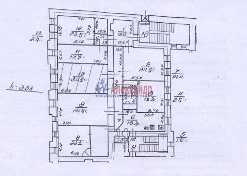 6-комнатная квартира (224м2) на продажу по адресу Разъезжая ул., 23— фото 2 из 15