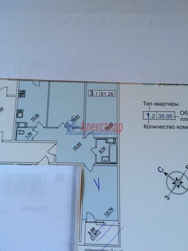 3-комнатная квартира (82м2) на продажу по адресу Сестрорецк г., Токарева ул.— фото 1 из 1