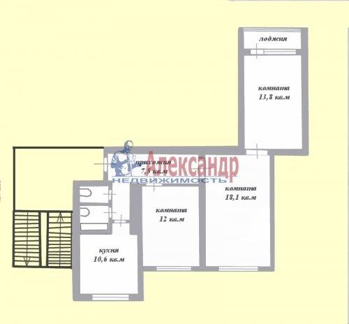 3-комнатная квартира (66м2) на продажу по адресу Сертолово г., Молодцова ул., 1— фото 2 из 2
