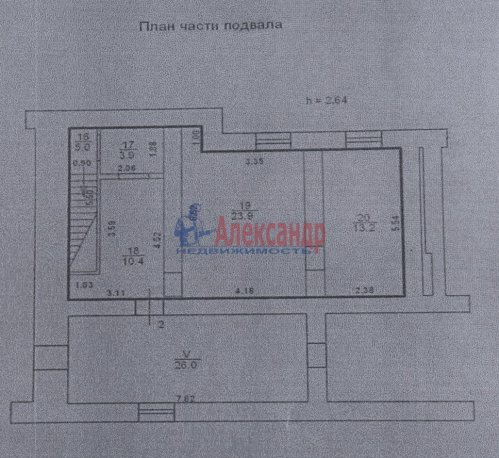5-комнатная квартира (267м2) на продажу по адресу Стрельна г., Нагорная ул., 23— фото 3 из 8