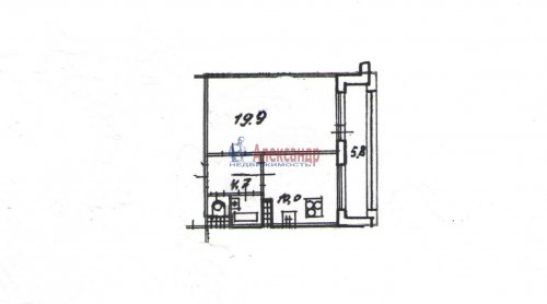 1-комнатная квартира (39м2) на продажу по адресу Малая Балканская ул., 58— фото 3 из 6