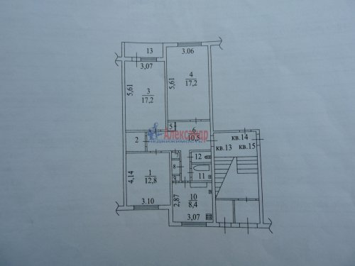 Комната в 3-комнатной квартире (73м2) на продажу по адресу Курковицы дер., 5— фото 3 из 6