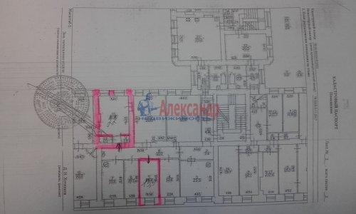 Комната в 8-комнатной квартире (240м2) на продажу по адресу Кадетская линия, 31— фото 10 из 10