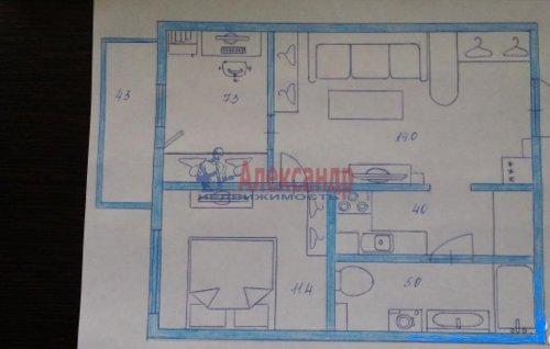 2-комнатная квартира (42м2) на продажу по адресу Оптиков ул., 52— фото 1 из 4