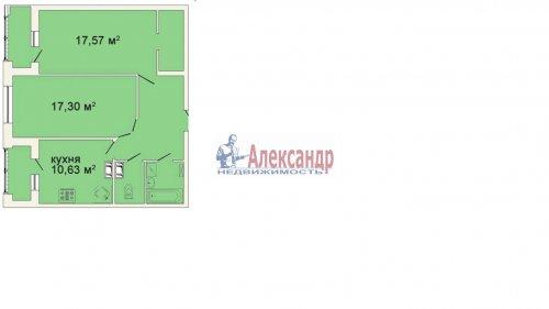 2-комнатная квартира (70м2) на продажу по адресу Лыжный пер., 4— фото 1 из 1