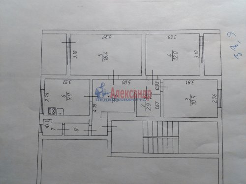 3-комнатная квартира (66м2) на продажу по адресу Зуево дер., 3— фото 10 из 10
