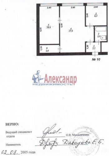2-комнатная квартира (42м2) на продажу по адресу Коммунар г., Комсомольская ул., 5— фото 2 из 2