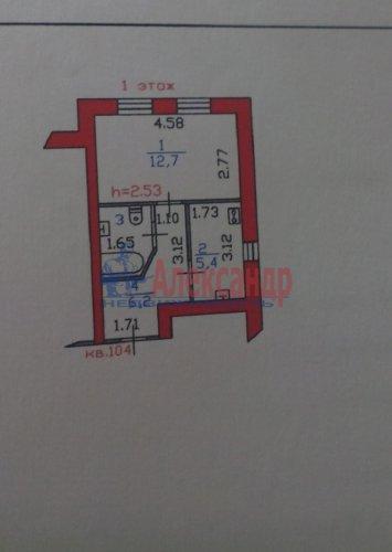 1-комнатная квартира (28м2) на продажу по адресу Выборг г., Сторожевой Башни ул., 9— фото 1 из 10