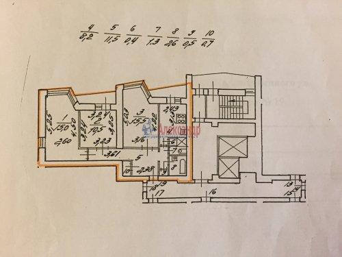 3-комнатная квартира (69м2) на продажу по адресу Демьяна Бедного ул., 14— фото 14 из 17