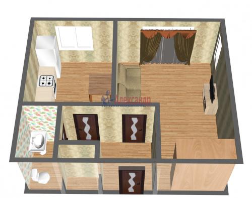 1-комнатная квартира (37м2) на продажу по адресу Пограничника Гарькавого ул., 36— фото 1 из 2