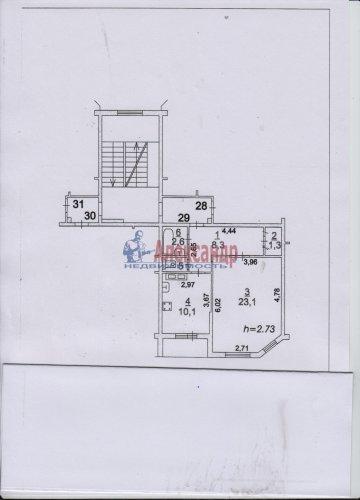 1-комнатная квартира (48м2) на продажу по адресу Сертолово г., Кленовая ул., 7— фото 1 из 1