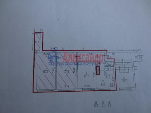 2 комнаты в 3-комнатной квартире (64м2) на продажу по адресу Горелово пос., Красносельское шос., 46— фото 6 из 12