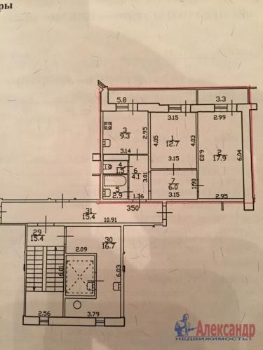 2-комнатная квартира (54м2) на продажу по адресу Пулковская ул., 2— фото 13 из 17