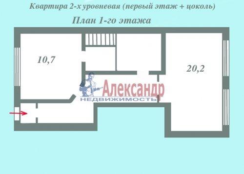 1-комнатная квартира (58м2) на продажу по адресу Всеволожск г., Октябрьский пр., 104— фото 3 из 4