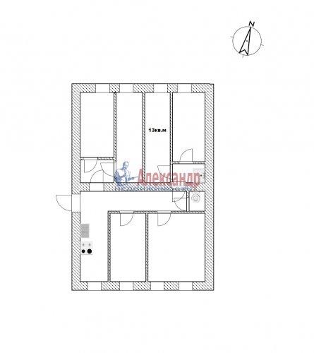 Комната в 6-комнатной квартире (106м2) на продажу по адресу Большая Посадская ул., 9— фото 2 из 2