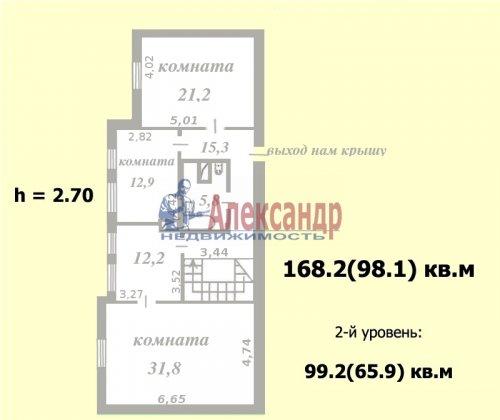 4-комнатная квартира (168м2) на продажу по адресу Тарасова ул., 6— фото 3 из 9