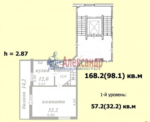 4-комнатная квартира (168м2) на продажу по адресу Тарасова ул., 6— фото 2 из 9
