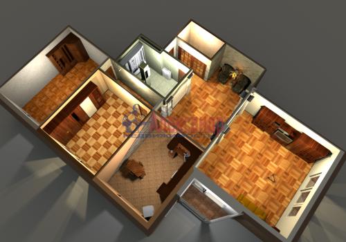 3-комнатная квартира (140м2) на продажу по адресу Приморский пр., 59— фото 2 из 35