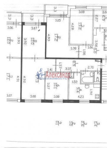 3-комнатная квартира (63м2) на продажу по адресу Олеко Дундича ул., 19— фото 5 из 5