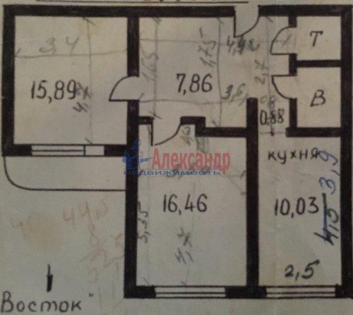 2-комнатная квартира (56м2) на продажу по адресу Ленская ул., 19— фото 2 из 14