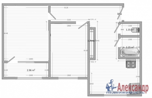 2-комнатная квартира (48м2) на продажу по адресу Летчика Пилютова ул., 23— фото 11 из 11
