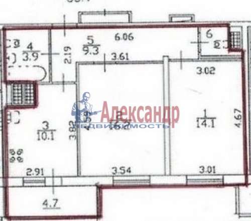 2-комнатная квартира (60м2) на продажу по адресу Гжатская ул., 22— фото 8 из 8