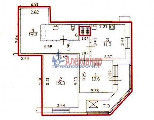 2-комнатная квартира (64м2) на продажу по адресу Белы Куна ул., 1— фото 16 из 16