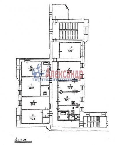 7-комнатная квартира (234м2) на продажу по адресу Суворовский пр., 39— фото 10 из 10