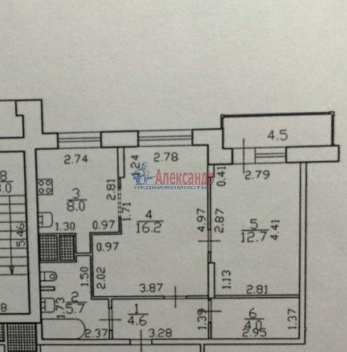 2-комнатная квартира (56м2) на продажу по адресу Гжатская ул., 22— фото 14 из 16
