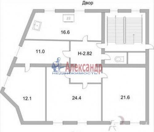 4-комнатная квартира (94м2) на продажу по адресу Владимирский пр., 15— фото 2 из 9