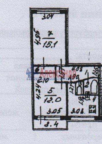2-комнатная квартира (44м2) на продажу по адресу Крыленко ул., 35— фото 2 из 7