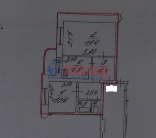 2-комнатная квартира (51м2) на продажу по адресу Косыгина пр., 23— фото 4 из 5