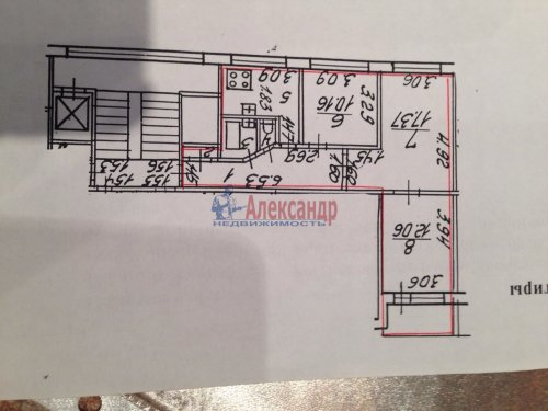 3-комнатная квартира (61м2) на продажу по адресу Тельмана ул., 44— фото 8 из 19