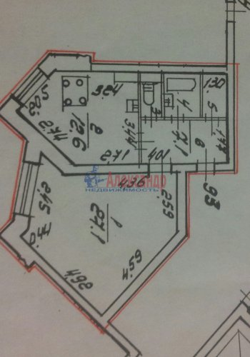 1-комнатная квартира (52м2) на продажу по адресу Капитанская ул., 5— фото 3 из 7