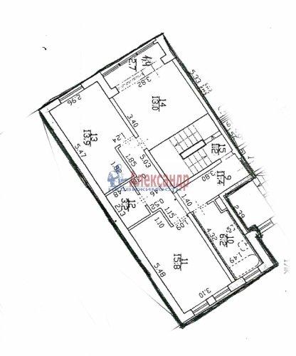 4-комнатная квартира (128м2) на продажу по адресу Пушкин г., Ленинградская ул., 46— фото 2 из 6