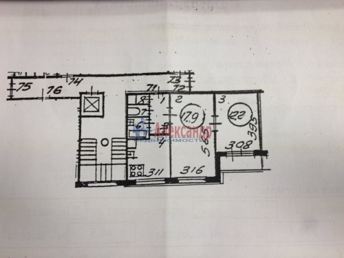 2-комнатная квартира (47м2) на продажу по адресу Художников пр., 24— фото 1 из 7