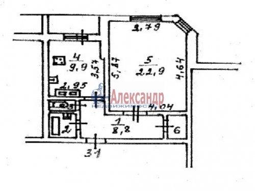 1-комнатная квартира (49м2) на продажу по адресу Сертолово г., Заречная ул., 10— фото 25 из 25