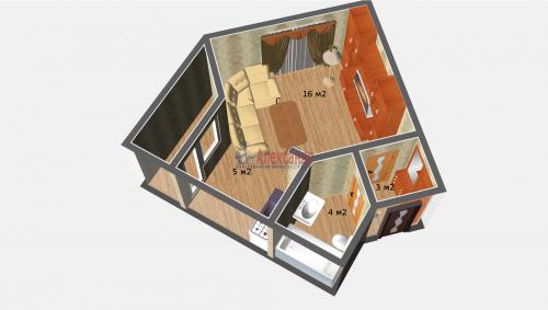 Студия (30м2) на продажу — фото 2 из 4