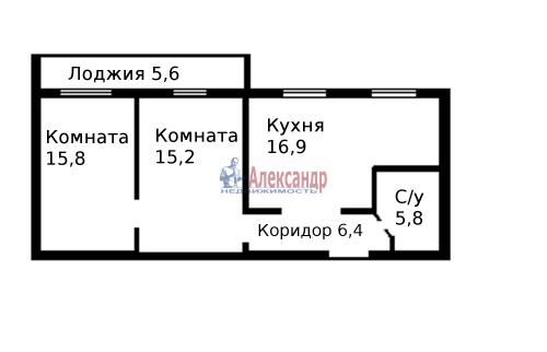 2-комнатная квартира (60м2) на продажу по адресу Пятилеток пр., 9— фото 19 из 19