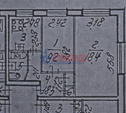 2-комнатная квартира (42м2) на продажу по адресу Ленинский пр., 162— фото 1 из 1