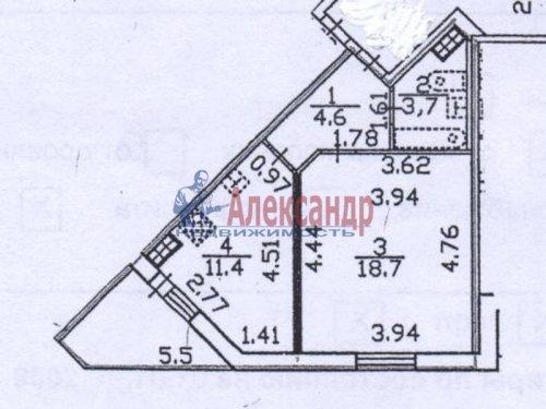 1-комнатная квартира (38м2) на продажу по адресу Богатырский пр., 51— фото 1 из 1
