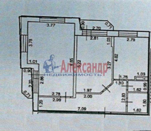 2-комнатная квартира (63м2) на продажу по адресу Лесколово пос., Красноборская ул., 4В— фото 2 из 15