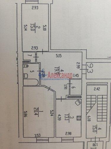 2-комнатная квартира (77м2) на продажу по адресу Кондратьевский пр., 62/3— фото 15 из 15