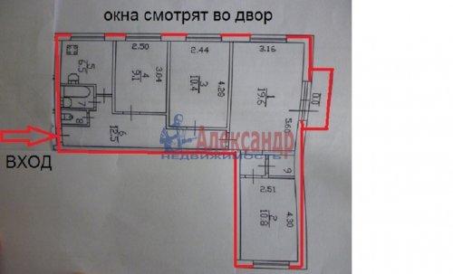 4-комнатная квартира (75м2) на продажу по адресу Науки пр., 2— фото 1 из 1