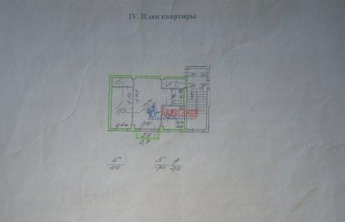 2-комнатная квартира (46м2) на продажу по адресу Полюстровский пр., 11— фото 2 из 10
