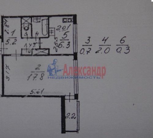 1-комнатная квартира (34м2) на продажу по адресу Стойкости ул., 39— фото 7 из 16