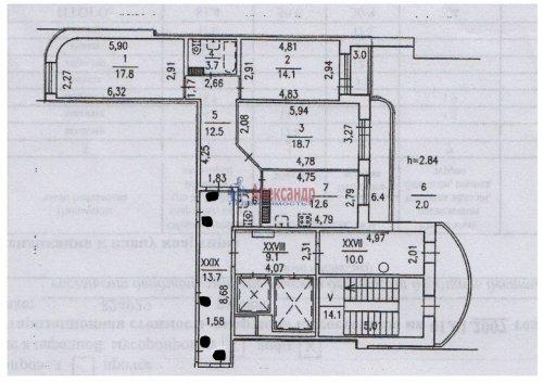 3-комнатная квартира (82м2) на продажу по адресу Варшавская ул., 23— фото 18 из 20