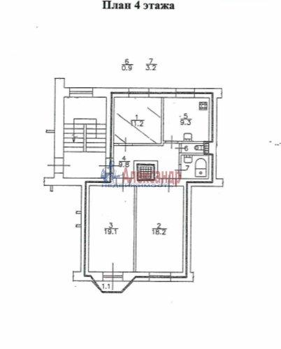 Комната в 3-комнатной квартире (71м2) на продажу по адресу Белоусова ул., 22— фото 6 из 9