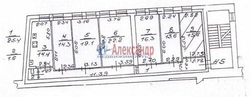 6-комнатная квартира (143м2) на продажу по адресу Большой Казачий пер., 11— фото 1 из 1