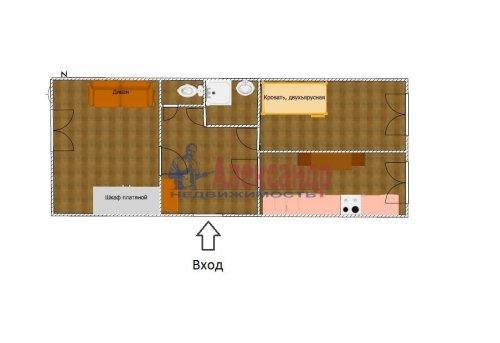 2-комнатная квартира (45м2) на продажу по адресу Выборг г., Крепостная ул., 1— фото 2 из 26